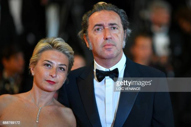 Italian director and member of the Feature Film jury Paolo Sorrentino and his wife Daniela D'Antonio pose as they arrive on May 26 2017 for the...