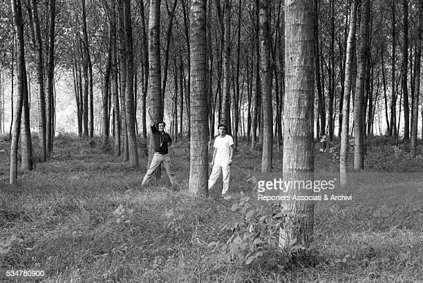 Italian director Bernardo Bertolucci preparing a scene in The Spider's Stratagem Italy 1970