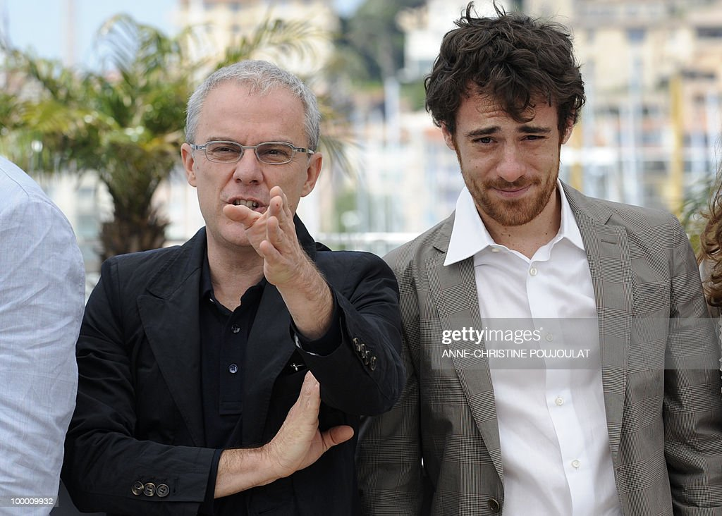Italian director Daniele Luchetti (L) and Italian actor Elio Germano pose during the photocall of 'La Nostra Vita' (Our Life) presented in competition at the 63rd Cannes Film Festival on May 20, 2010 in Cannes.
