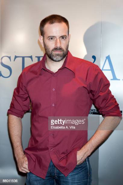 Italian director Fausto Brizzi attends the 2009 Nastri D'Argento Nominations dinner party at Villa Medici on May 28 2009 in Rome Italy