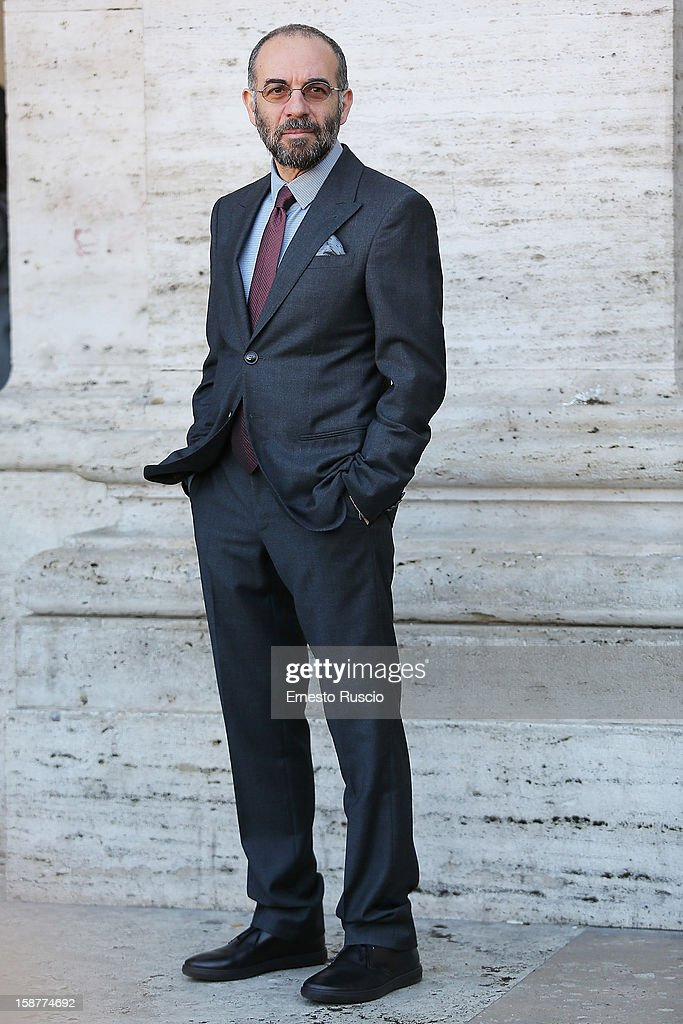 Italian director Giuseppe Tornatore attends the 'La Migliore Offerta' photocall at The Space Moderno on December 28, 2012 in Rome, Italy.