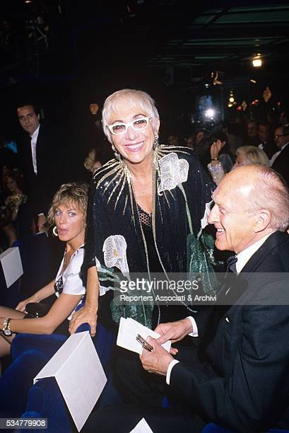 Italian director Lina Wertmuller and Italian actor Raimondo Vianello attending to a night gala Italy 1980