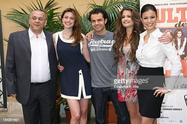 Italian director Luca Biglione actors Nathalie Rapti Gomez Andrea De Rosa Giulia Elettra Gorietti and Sara Tommasi attend a photocall promoting the...