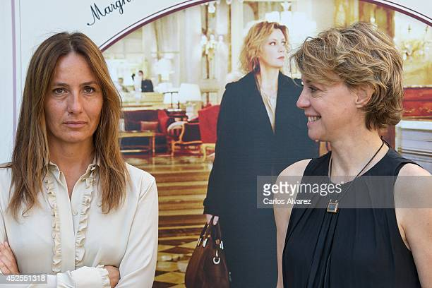 Italian director Maria Sole Tognazzi and Italian actress Margherita Buy attend 'Viajo Sola' photocall at the Princesa cinema on July 23 2014 in...