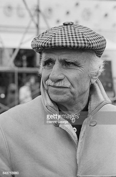 Italian director Mario Monicelli on the set of his film 'Temporale Rosy' based on Carlo Brizzolara's novel by the same title