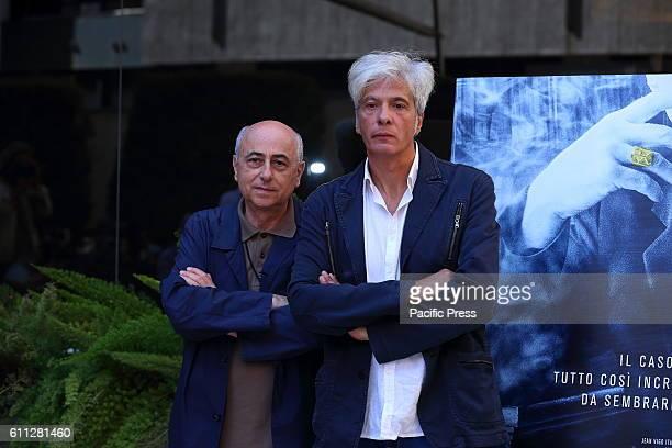 Italian director Roberto Faenza with Pietro Orlandi brother of Emanuela Orlandi during photocall of 'La Verità sta in cielo' a film by Roberto Faenza...