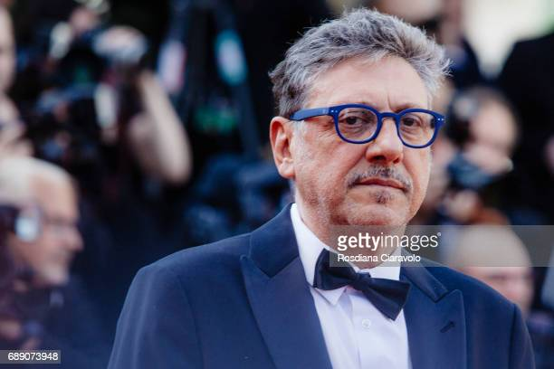 Italian Director Sergio Castellitto attends the 'Based On A True Story' screening during the 70th annual Cannes Film Festival at Palais des Festivals...