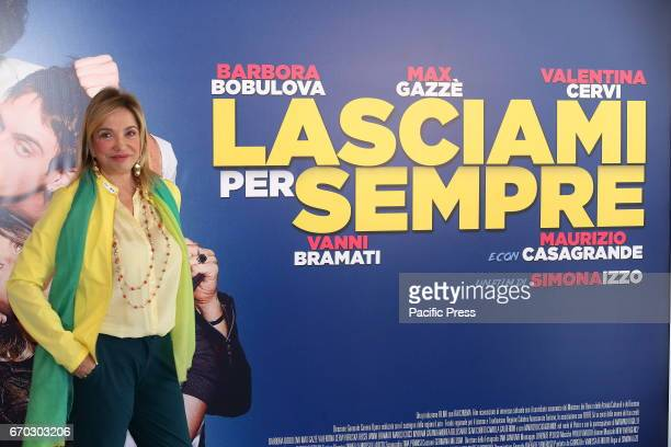 Italian director Simona Izzo during photocall of italian movie 'Lasciami per Sempre'