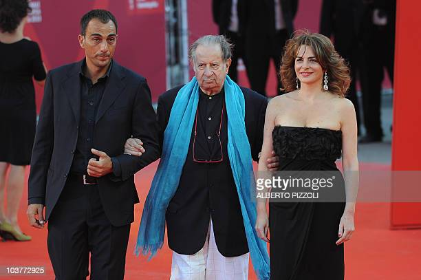 Italian director Tinto Brass arrives for the screening of 'The black swan' opening the 67th Venice Film Festival on September 1 2010 at Venice Lido...
