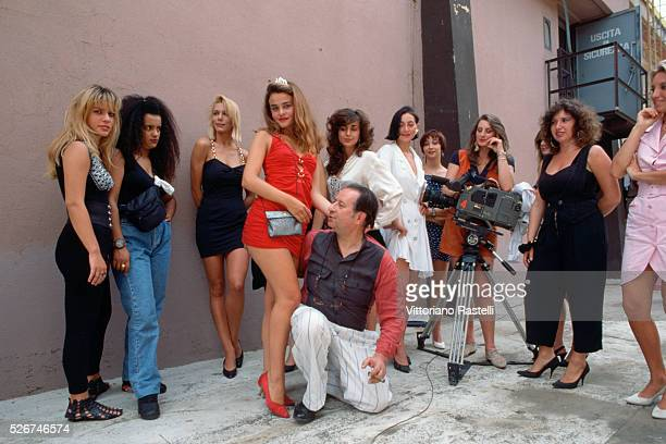 Italian director Tinto Brass auditions actresses for a new movie