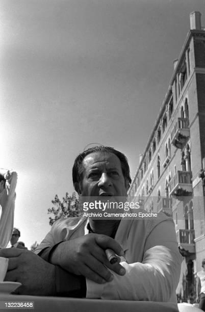 Italian director Tinto Brass portrayed in Lido Venice 1984