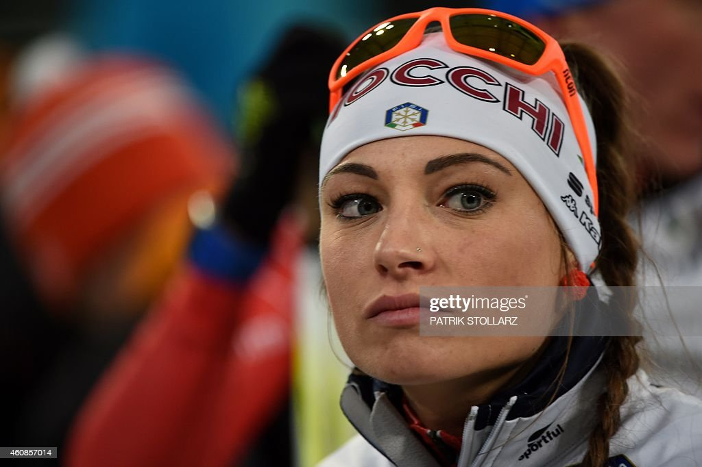 Italian <a gi-track='captionPersonalityLinkClicked' href=/galleries/search?phrase=Dorothea+Wierer&family=editorial&specificpeople=7438920 ng-click='$event.stopPropagation()'>Dorothea Wierer</a> competes in the mixed mass start during the Biathlon World Team Challenge in Gelsenkirchen, Germany on December 27, 2014. AFP PHOTO / PATRIK STOLLARZ