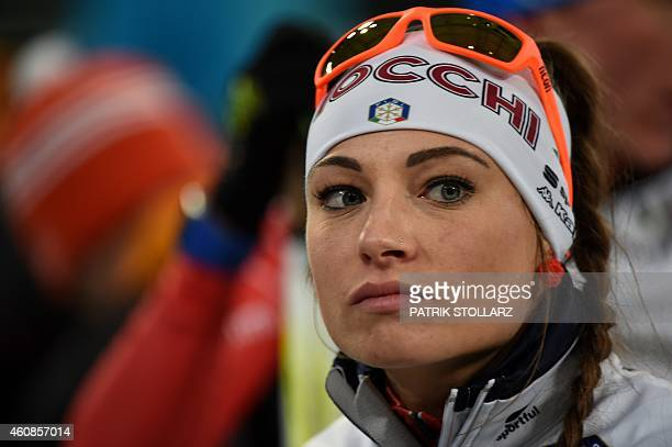 Italian Dorothea Wierer competes in the mixed mass start during the Biathlon World Team Challenge in Gelsenkirchen Germany on December 27 2014 AFP...