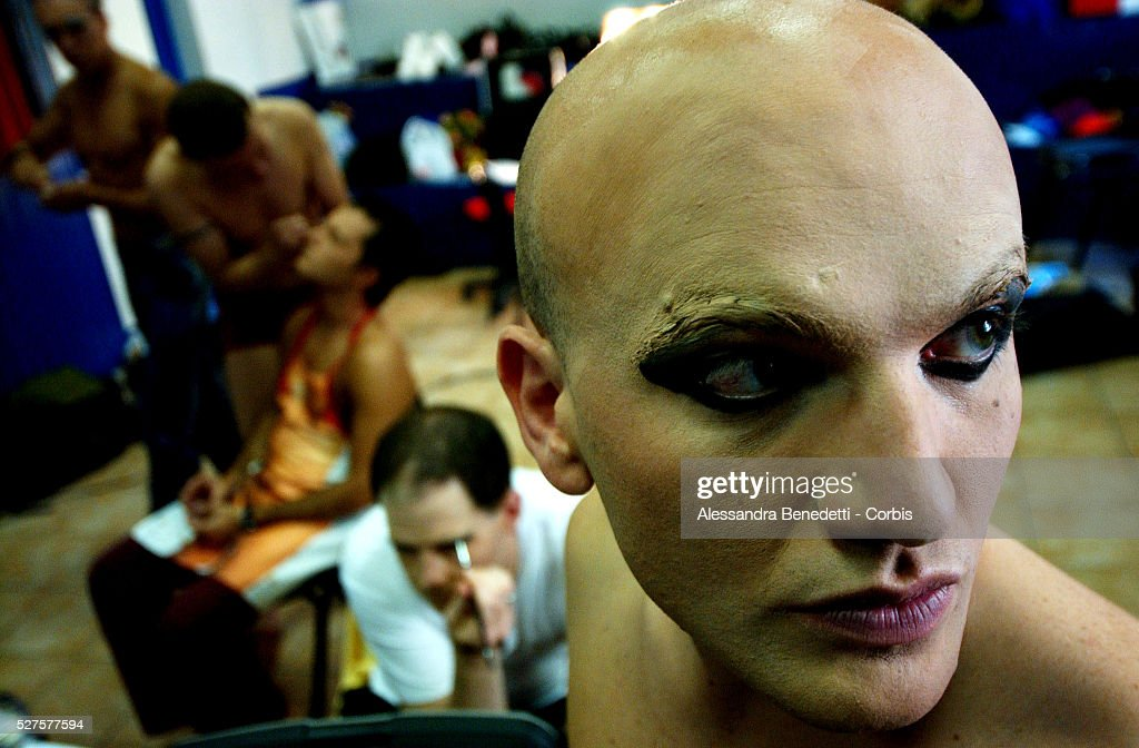 Italian drag queens from the Alibi disco prepare for the Italian music festival of San Remo by organising their own San Remo drag festival