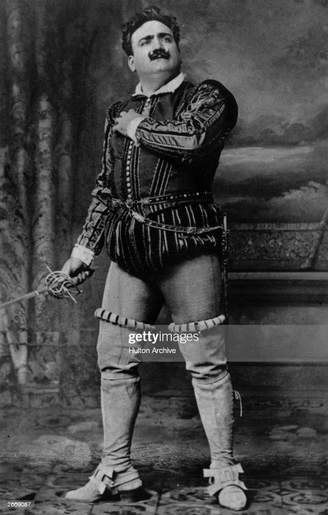 Italian dramatic tenor Enrico Caruso in Rigoletto