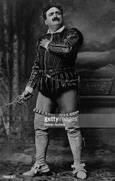 Italian dramatic tenor Enrico Caruso in Rigoletto