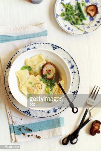 Italian dumplings : Stock Photo