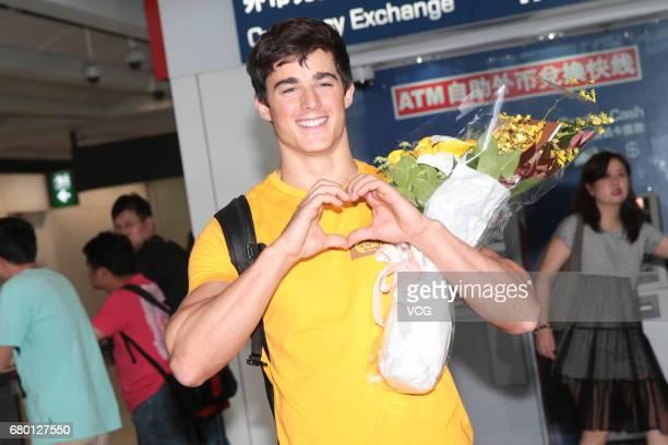 Italian engineer former mathematics lecturer and model Pietro Boselli arrives at Hong Kong International Airport on May 7 2017 in Hong Kong China