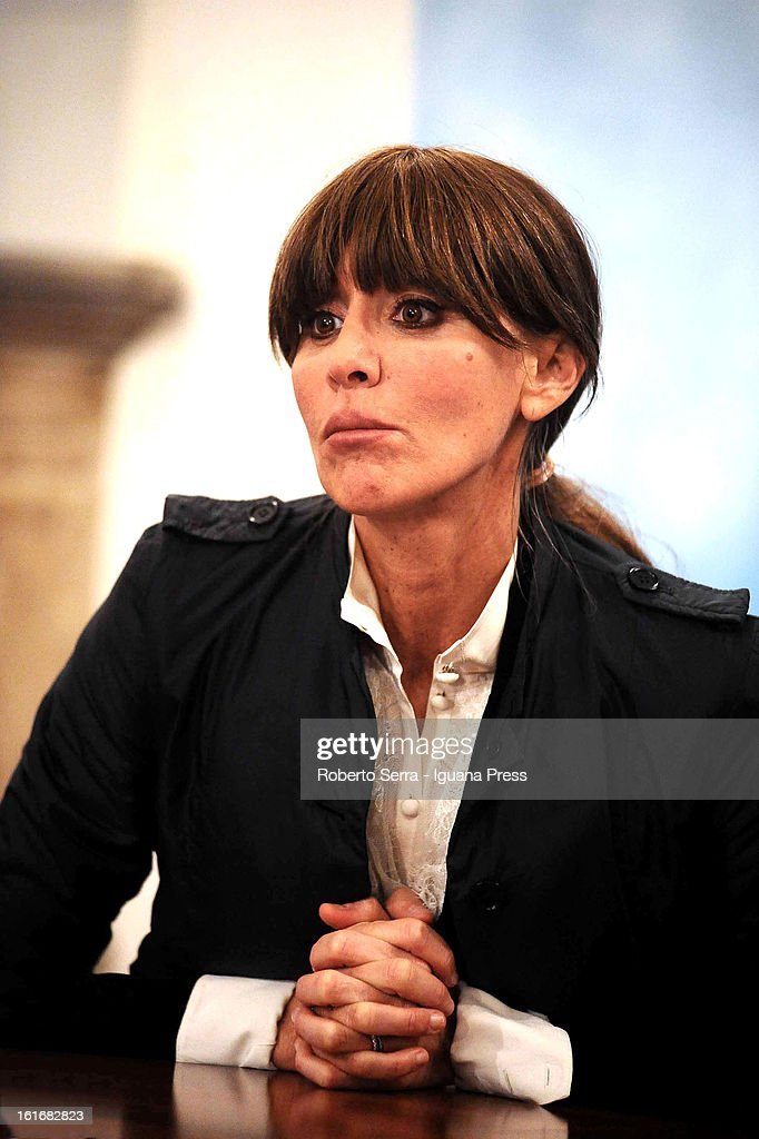 Italian ex Minister to European Policy and candidate to next parliamentary elections for PdL party (Popolo delle Liberta) Anna Maria Bernini attends an electoral event in the PdL's headquarters on February 13, 2013 in Bologna, Italy.