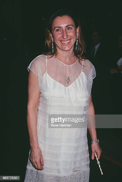 Italian fashion designer and entrepreneur Miuccia Prada attends the CFDA Awards New York City circa 1993