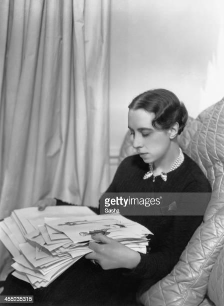 Italian fashion designer Elsa Schiaparelli 1936