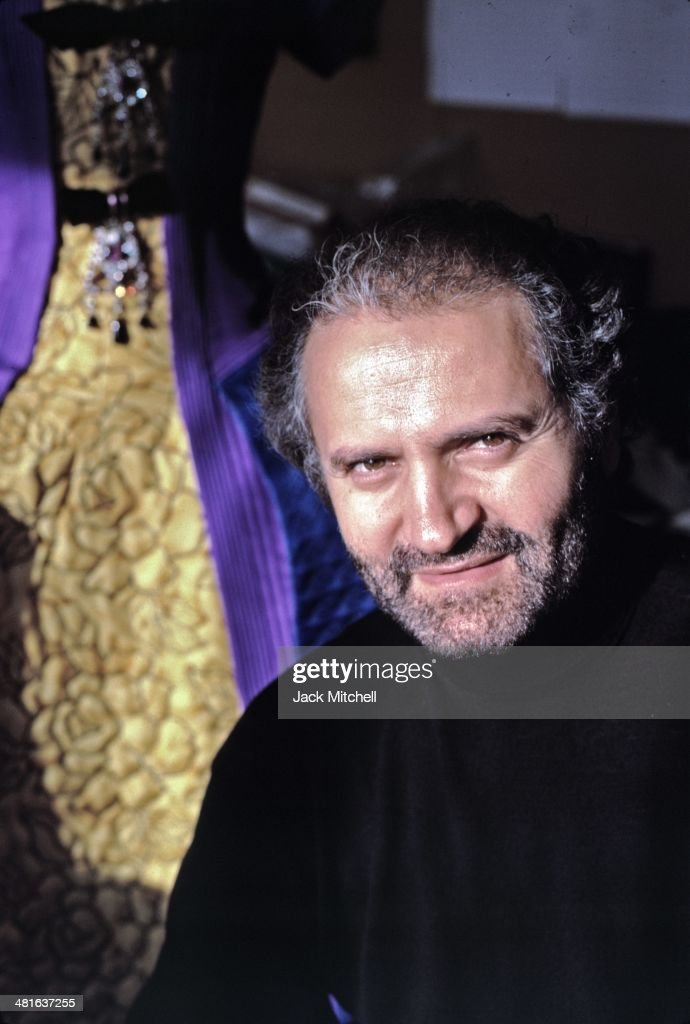 Italian fashion designer Gianni Versace photographed in New York City in 1988.