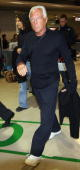 Italian fashion designer Giorgio Armani arrives at New Tokyo International Airport on March 29 2005 in Narita Japan Armani is in Japan to attend the...
