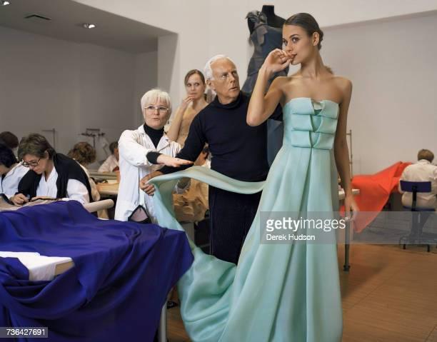 Italian fashion designer Giorgio Armani