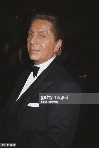 Italian fashion designer Valentino Garavani at a boutique party in New York 1995