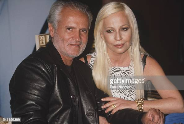 Italian fashion designers Gianni and Donatella Versace at the launch for their new fragrance 'Versace's Blonde' USA circa 1996