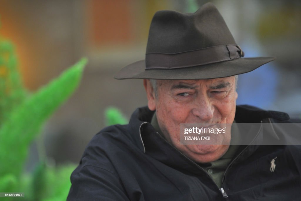 Italian film director Bernardo Bertolucci poses during the photocall for 'Io e Te' (Me and You) on October 18, 2012 in Rome. 'Io and Te' was presented during the 2012 Cannes film festival.