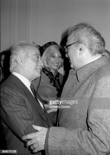 Italian film director Federico Fellini 1981