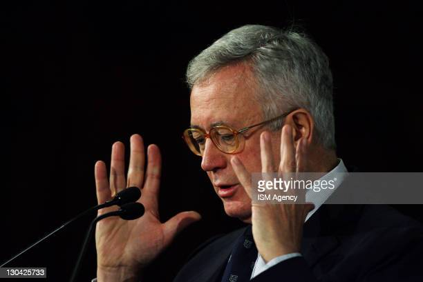 Italian Finance Minister Giulio Tremonti attends ' World Saving Day ' meeting on October 26 2011 in Rome Italy During the meeting Tremonti stated...