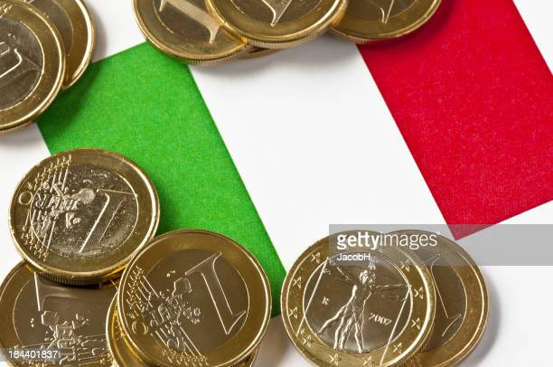 Italienische Flagge und Euro