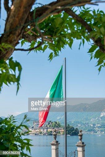 Italian flag and Island