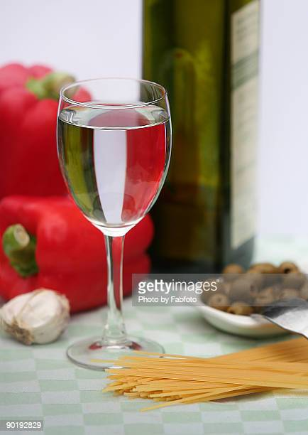 Italian flag shown in glass of water