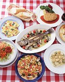 Italian Food, High Angle View