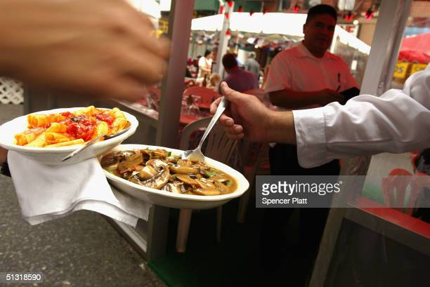 Italian food is prepared at the annual Feast of San Gennaro festival September 17 2004 in New York City The annual Italian festival has taken place...