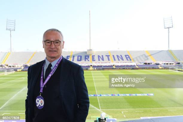 Italian football manager Claudio Ranieri poses for a photo during an event organized to mark the 90th anniversary of the foundation of ACF Fiorentina...