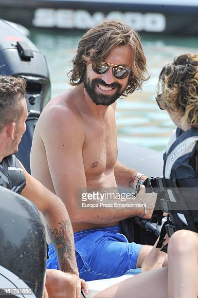 Italian football player Andrea Pirlo is seen on July 6 2014 in Ibiza Spain