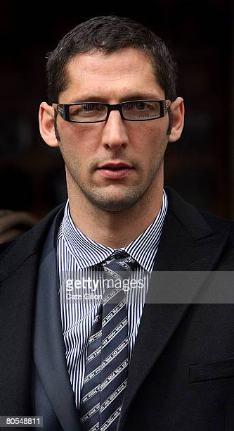 Italian football player Marco Materazzi arrives at the High Court on April 7 2008 in London England Materazzi accepted an apology regarding claims in...