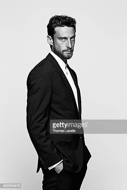 Italian footballer Claudio Marchisio is photographed for GQ Italy on April 22 2014 in Turin Italy