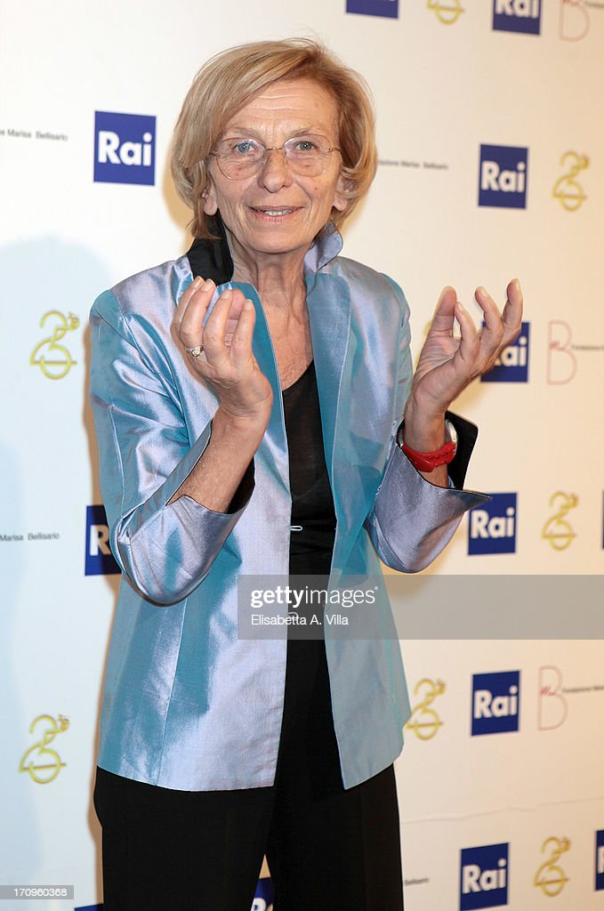Italian Foreign Minister <a gi-track='captionPersonalityLinkClicked' href=/galleries/search?phrase=Emma+Bonino&family=editorial&specificpeople=539913 ng-click='$event.stopPropagation()'>Emma Bonino</a> attends Premio Belisario 2013 at Dear RAI studios on June 20, 2013 in Rome, Italy.