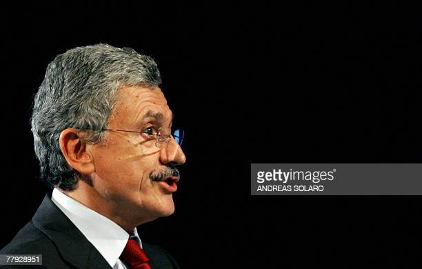 Italian Foreign Minister Massimo D'Alema speaks 15 November 2007 during the 20th World Energy Congress in Rome With several member committees in over...