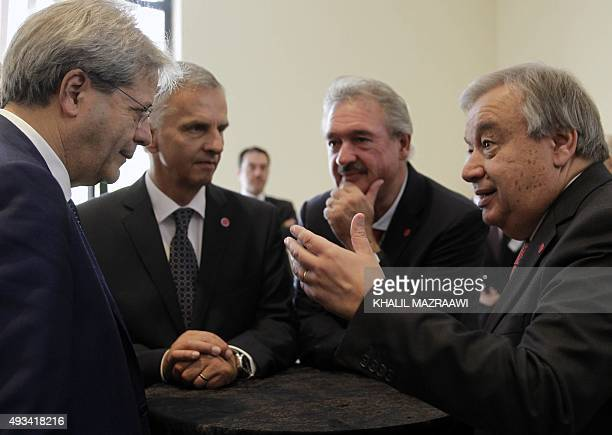 Italian Foreign Minister Paolo Gentiloni Swiss Foreign Minister Didier Burkhalter Luxembourg's Foreign Minister Jean Asselborn and the United Nations...