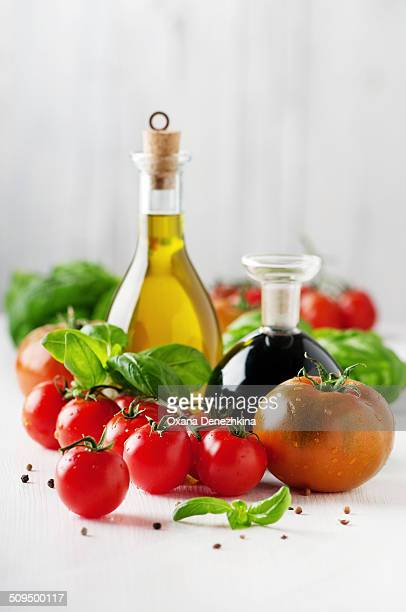 Italian fresh oil, vinegar, tomato and basil