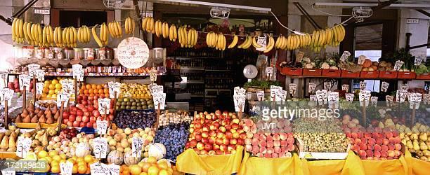 Italian fruit stand.