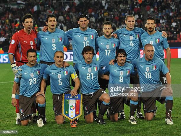 Italian goalkeeper Gianluigi Buffon Italian defender Fabio Grosso Italian forward Vincenzo Iaquinta Italian forward Giuseppe Rossi Italian defender...