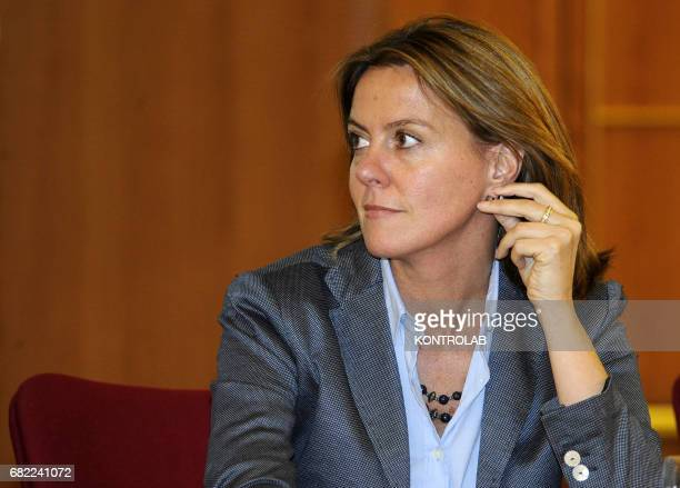 Italian Health Minister Beatrice Lorenzin during the press conference in Naples city