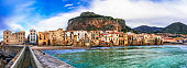 Landmarks of Italy - beautiful coastal town Cefalu in Sicily